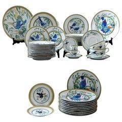 """Hermès, an Important Part of Porcelain Tableware Model """"Toucans"""", 1980s"""