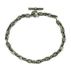 HERMES Anchor Chain Necklace In Sterling Silver