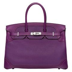 Hermès Anemone Ghillies 35cm Birkin Bag