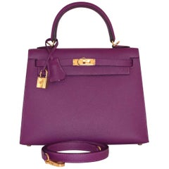 Hermes Anemone Kelly 25  Epsom Sellier Bag Gold Hardware