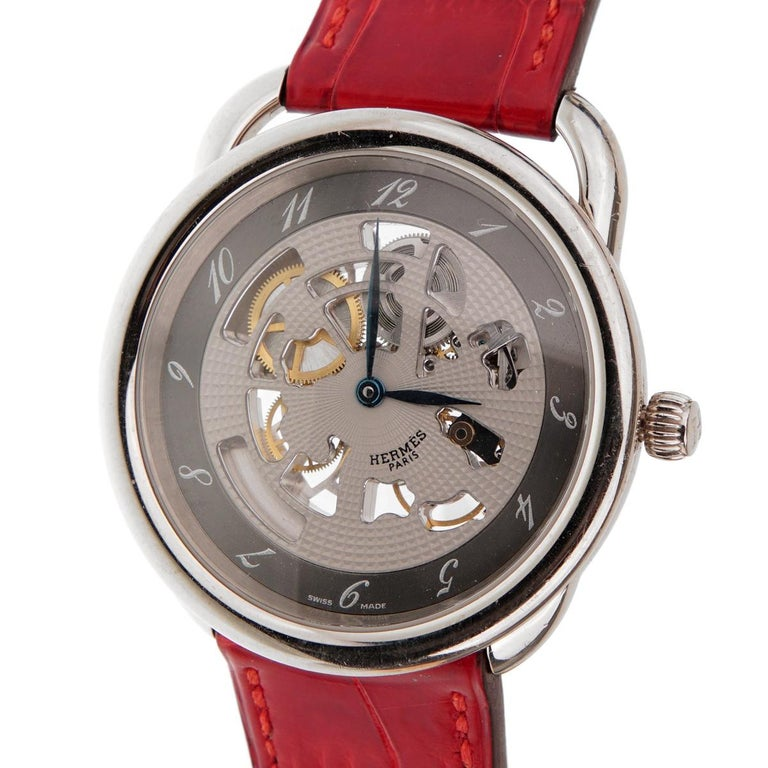 Hermes Anniversary Limited Edition Arceau White Gold Watch For Sale 1