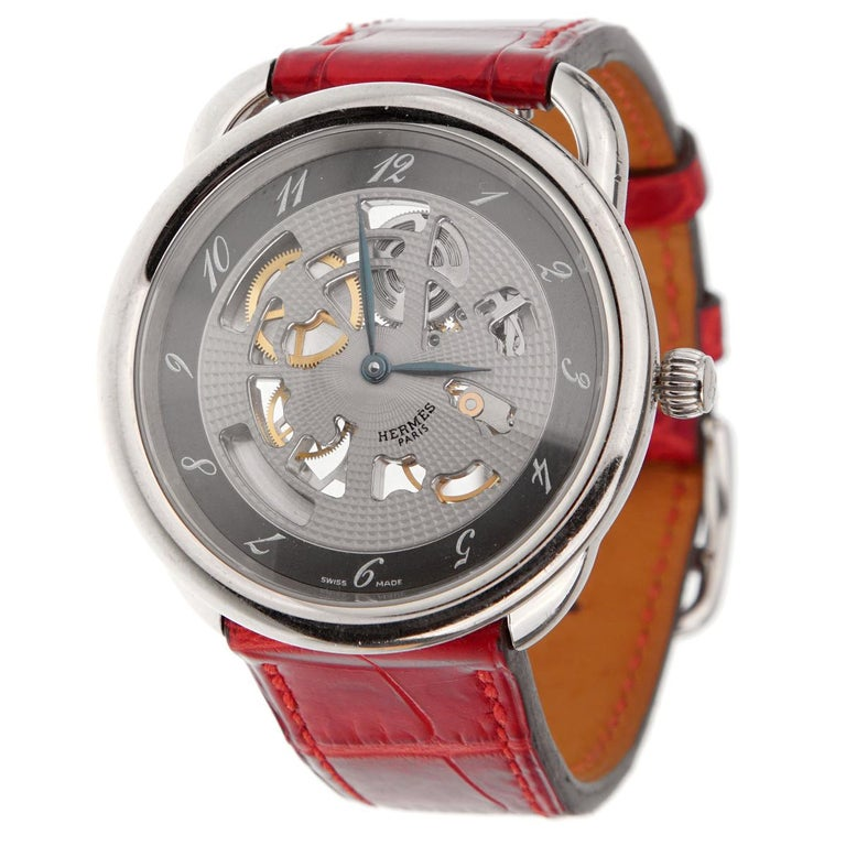 Hermes Anniversary Limited Edition Arceau White Gold Watch For Sale