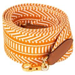 HERMES Apricot Ecru Gold SANGLE CAVALE 50 Bag Shoulder Strap 105