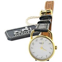 Hermès Arceau 18 Karat Gold Watch Small