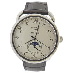 Hermes Arceau Moonphase Automatic Stainless Steel Watch AR8.810