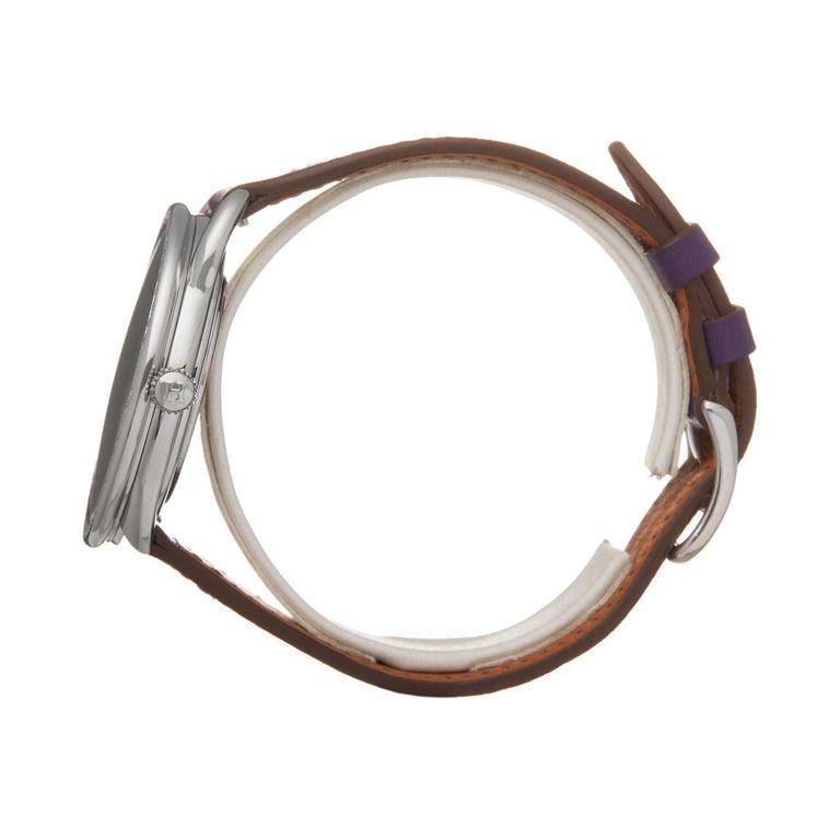Hermes Arceau Stainless Steel AR5730 Wristwatch In Excellent Condition For Sale In Bishops Stortford, Hertfordshire