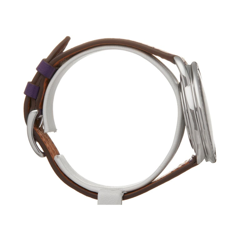 Women's Hermes Arceau Stainless Steel AR5730 Wristwatch For Sale
