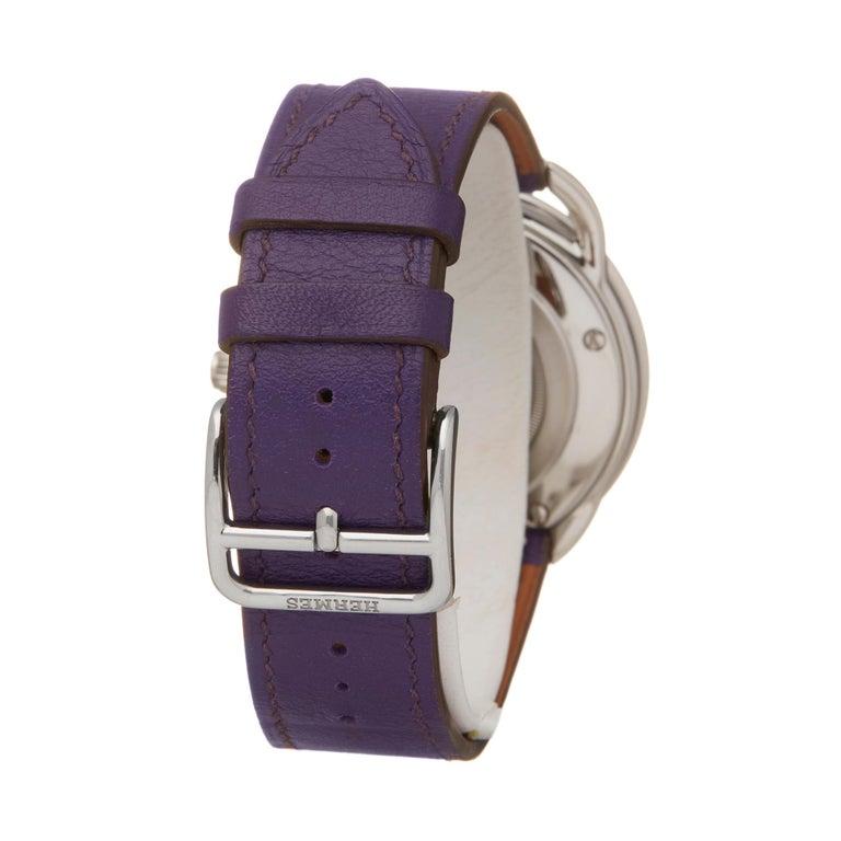 Hermes Arceau Stainless Steel AR5730 Wristwatch For Sale 1