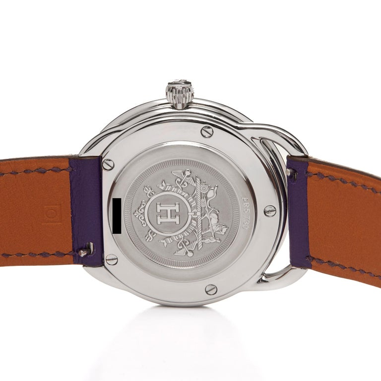 Hermes Arceau Stainless Steel AR5730 Wristwatch For Sale 2