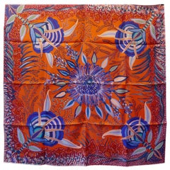 "HERMÈS Ardmore Artists design ""Flowers of South Africa"" 100% Silk Scarf, 2016"