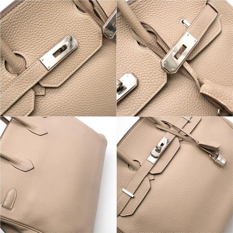 Hermes Argile Taurillion Clemence Leather 35cm Birkin 5