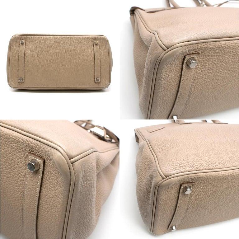 Women's Hermes Argile Taurillion Clemence Leather 35cm Birkin