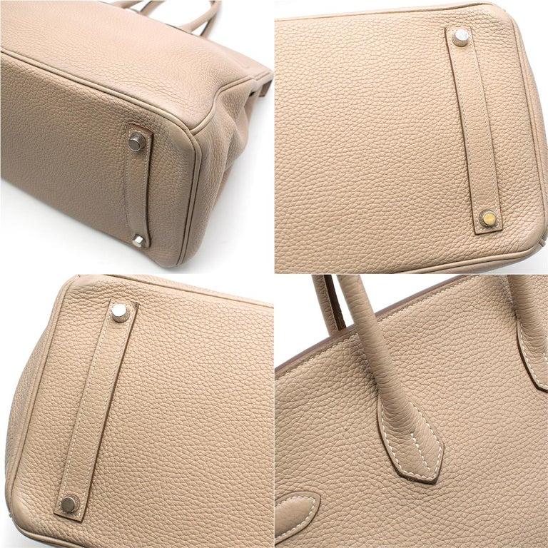 Hermes Argile Taurillion Clemence Leather 35cm Birkin 1