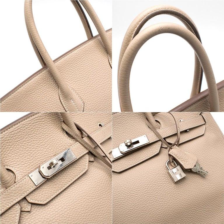 Hermes Argile Taurillion Clemence Leather 35cm Birkin 2