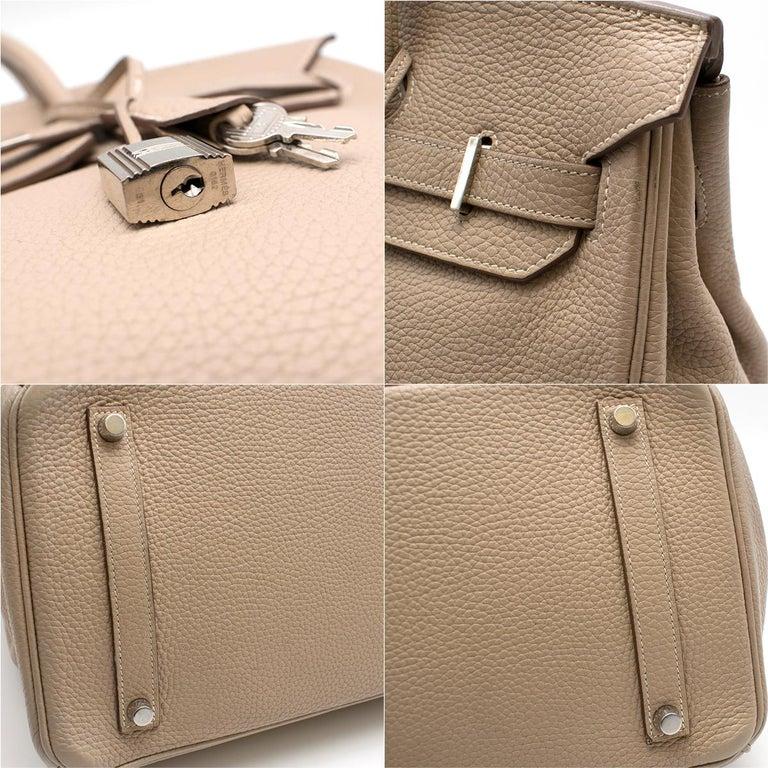 Hermes Argile Taurillion Clemence Leather 35cm Birkin 3