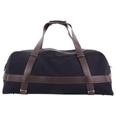 Hermes Arion Duffle Bag Canvas With Leather