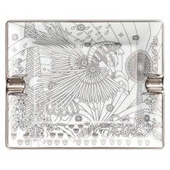 Hermes Ashtray La Source de Pegase Silver Limoges Porcelain New w/Box