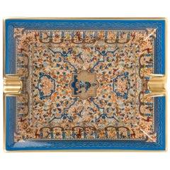 Hermes Ashtray Les Jardins D'Armenie Blue / Or Porcelain New w/ Box