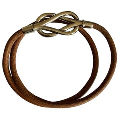 Hermes Atame Leather Knot Necklace