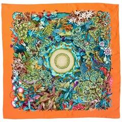 Hermès Au Coeur de la Vie Multicolored Silk Scarf