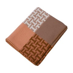 Hermes Avalon Terre D'H Blanket Corail Hand Woven Cashmere New