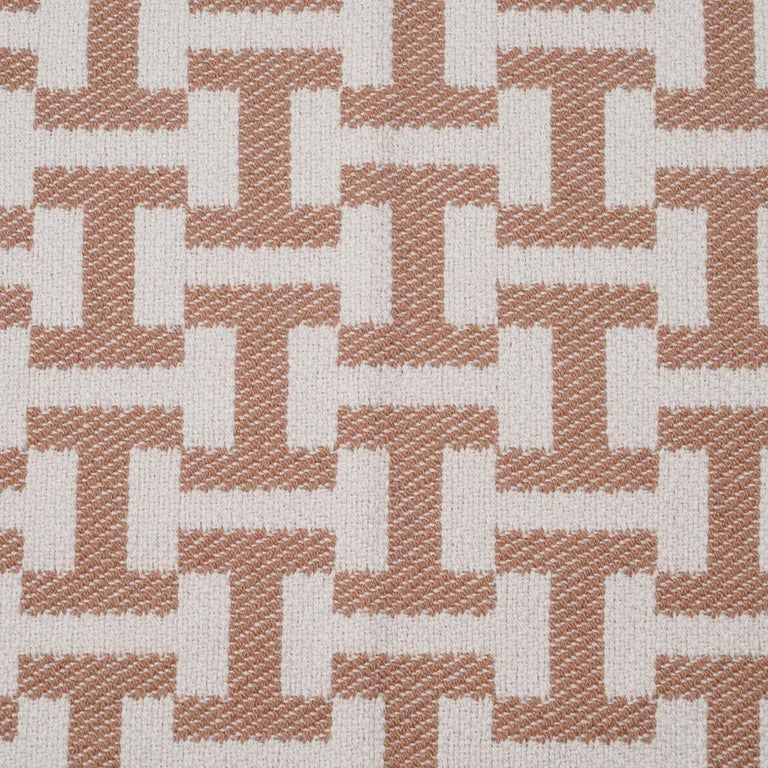 Hermes Avalon Terre D'H Blanket Corail Hand Woven Cashmere New wBox For Sale 6