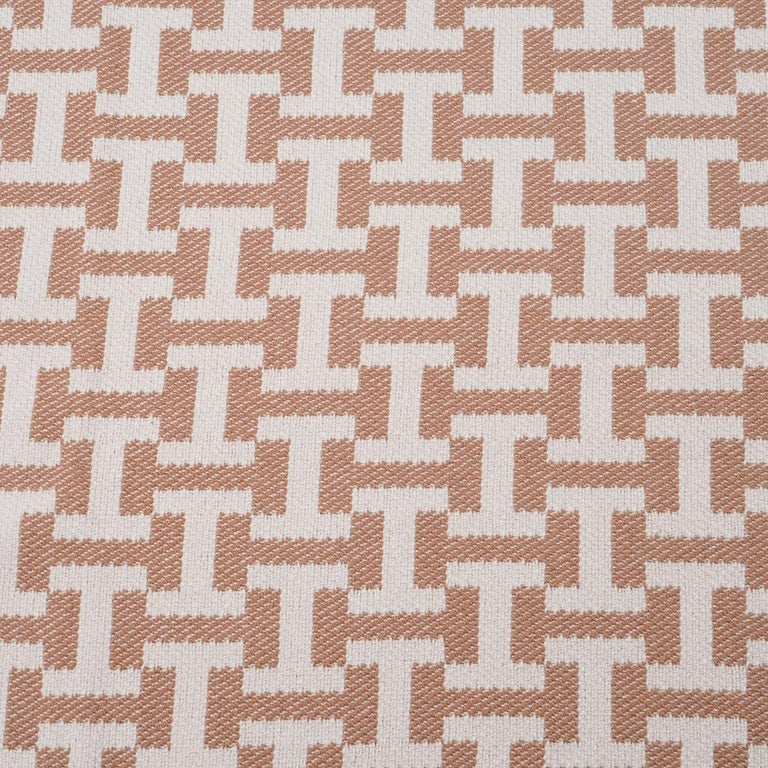 Hermes Avalon Terre D'H Blanket Corail Hand Woven Cashmere New wBox In New Condition For Sale In Miami, FL