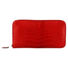 Hermès Azap Alligator Mississippiensis and Leather Long Wallet