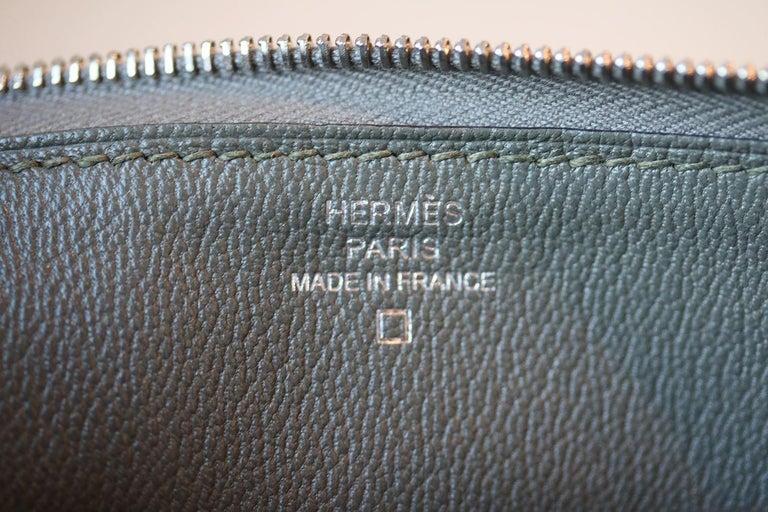 Hermès Azap Crocodile Leather Long Wallet  For Sale 2