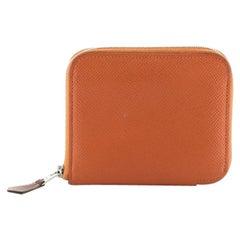 Hermes Azap Zip Around Wallet Silk'in Epsom Compact