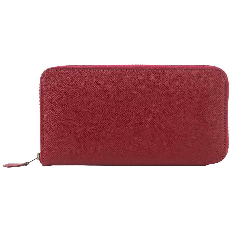 Hermès Azap Zipped Classic Epsom Leather Wallet