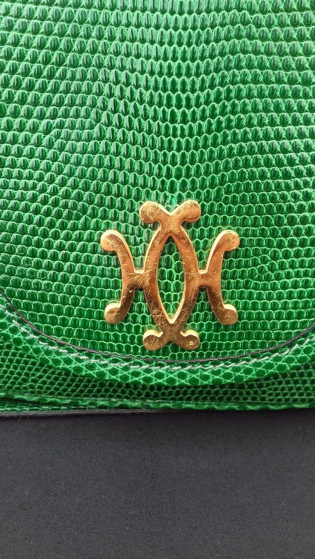 Exceptional Hermès Lift Bag 4 ways Emerald Green Lizard H Buckle Ghw Rare For Sale 9