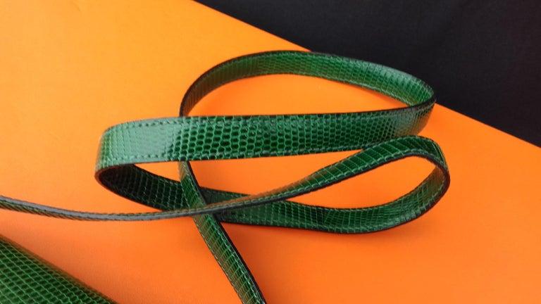 Exceptional Hermès Lift Bag 4 ways Emerald Green Lizard H Buckle Ghw Rare For Sale 1
