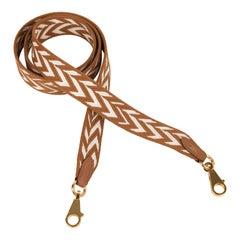 Hermes Bag Strap Sangle Cavale 25 MM Gold / Ecru Swift Gold