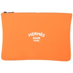 Hermes Bain Neobain Case Orange Large Model New