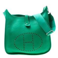 Hermes Bamboo Togo Leather Evelyne III GM Bag
