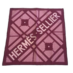 HERMES Bandana in Purple Cotton