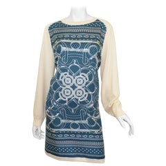 Hermes Bandana Print Silk/Knit Dress