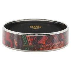 Hermes Bangle Printed Enamel Wide