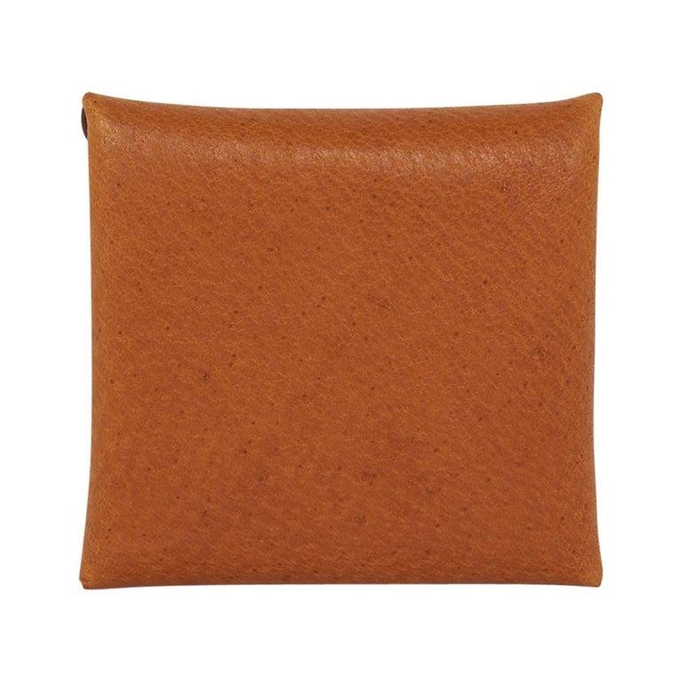 Hermes Bastia Change Purse Peau Porc Leather New w/ Box In New Condition For Sale In Miami, FL