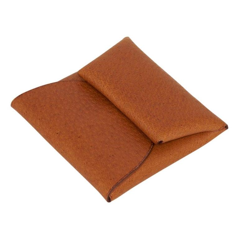 Women's or Men's Hermes Bastia Change Purse Peau Porc Leather New w/ Box For Sale