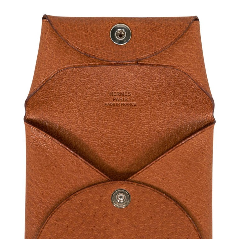 Hermes Bastia Change Purse Peau Porc Leather New w/ Box For Sale 1