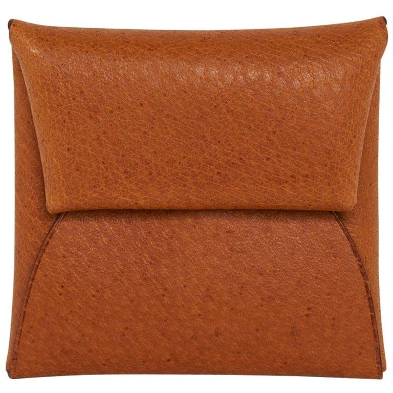Hermes Bastia Change Purse Peau Porc Leather New w/ Box For Sale