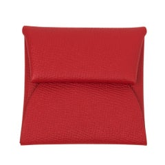 Hermes Bastia Change Purse Rouge De Coeur  Epsom Leather