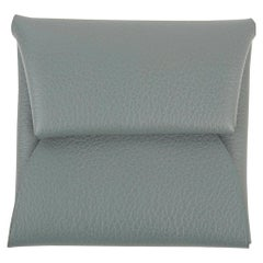 Hermes Bastia Verso Change Purse Vert Amande and Gris Perle Evercolor Leather
