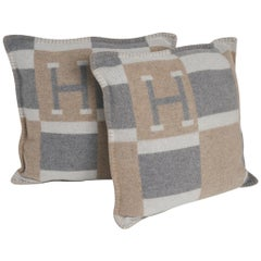 Hermes Bayadere Avalon Naturel Pillow Set of Two New/ Sleeper