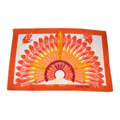 Hermes Beach Towel Tapis de Plage Brazil Orange New