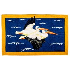 Hermès Beach Towel With Pelican Design
