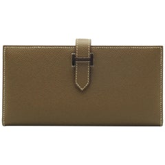 Hermès Bearn Wallet Etoupe Epsom Leather Palladium Hardware