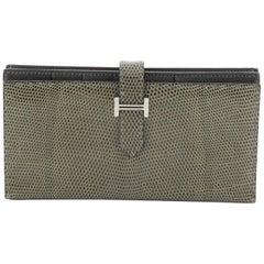 Hermes Bearn Wallet Lizard Long